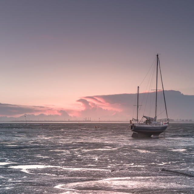 """Leigh on sea"" stock image"