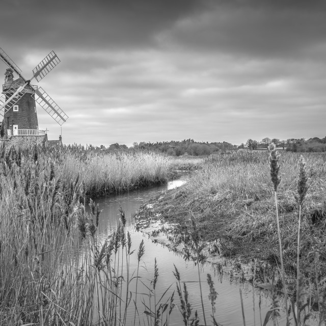 """Clay next the sea windmill"" stock image"