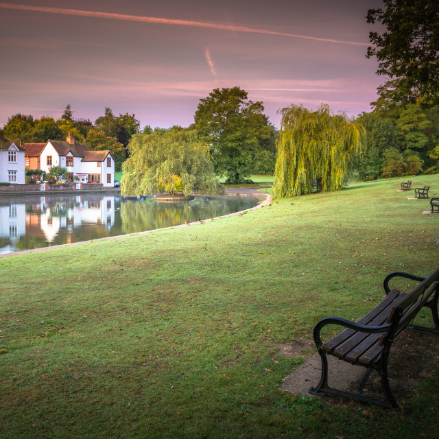 """Doctors Pond Dunmow"" stock image"