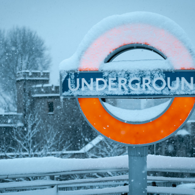 """Tower Hill Underground Station"" stock image"