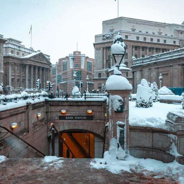 """""""Bank Underground station"""" stock image"""