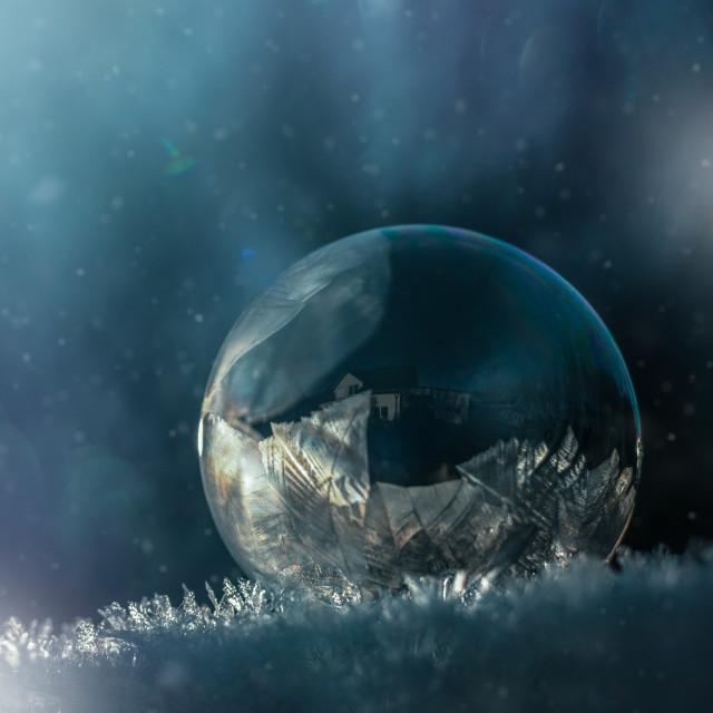"""Ice bubble"" stock image"