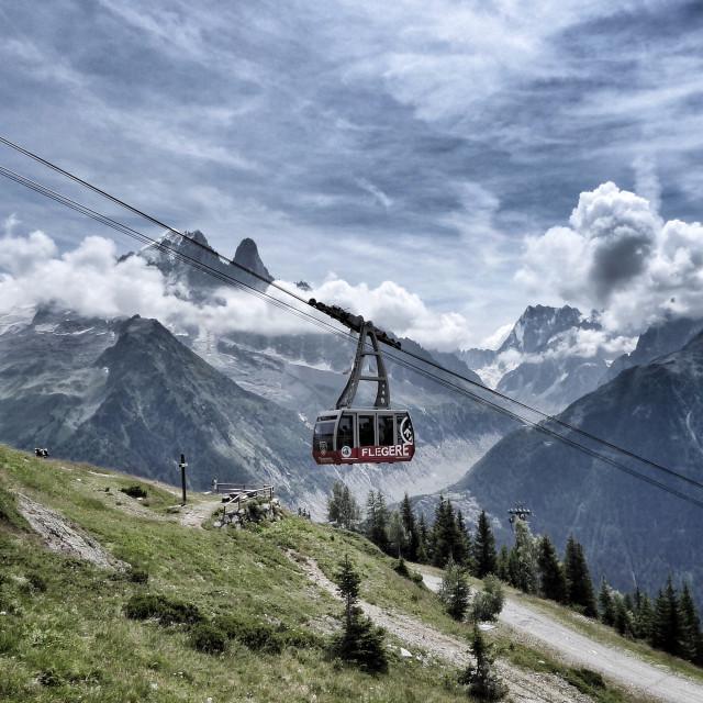 """Cable car, Chamonix"" stock image"
