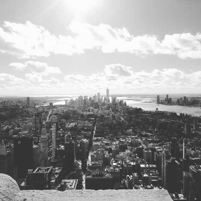 """""""A picture from the Empire State Building"""" stock image"""