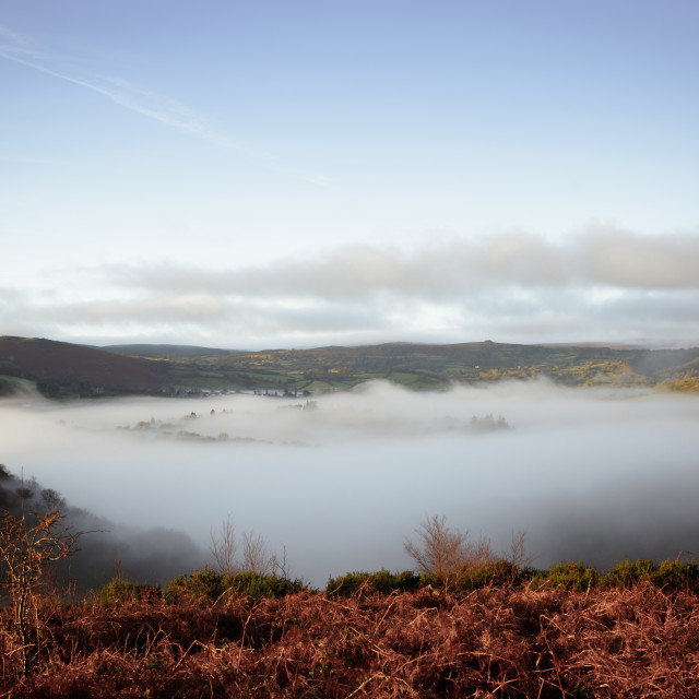 """""""Valley of Mist"""" stock image"""