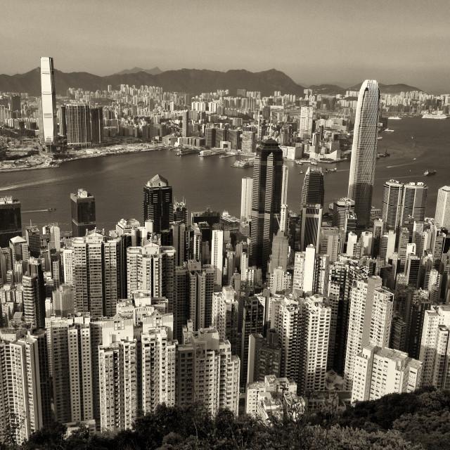 """Kowloon Hong Kong Yesteryear 2018"" stock image"