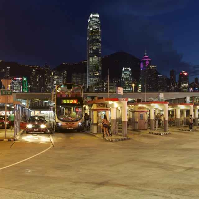 """""""Tsim Sha Tsui Bus Terminal, Kowloon"""" stock image"""