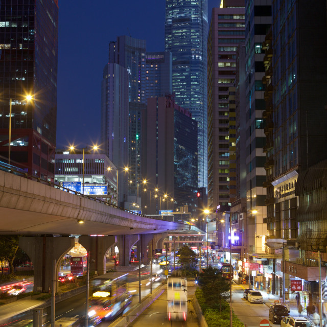 """Connaught Road, Hong Kong"" stock image"