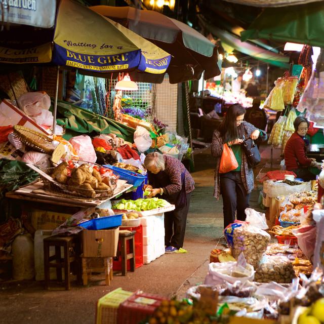 """Graham Street market"" stock image"
