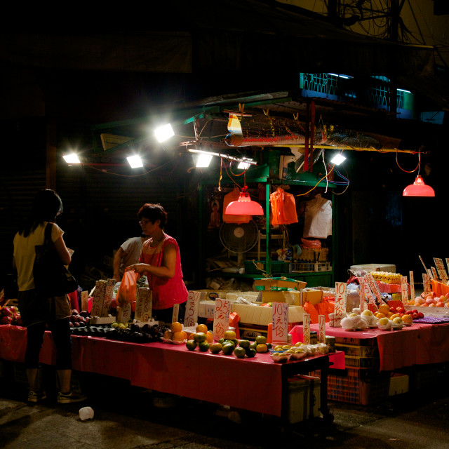"""Street markets in Kowloon"" stock image"