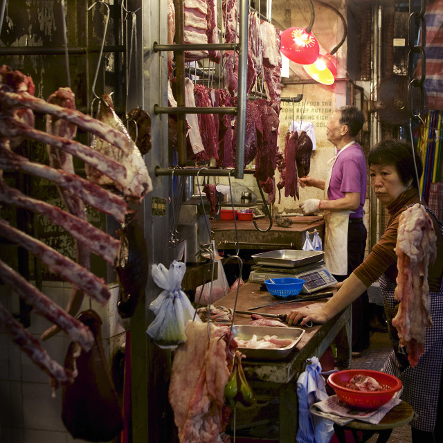 """Street markets in Hong Kong"" stock image"