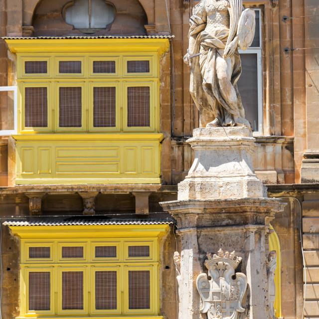 """Victory Square in Birgu, Malta"" stock image"