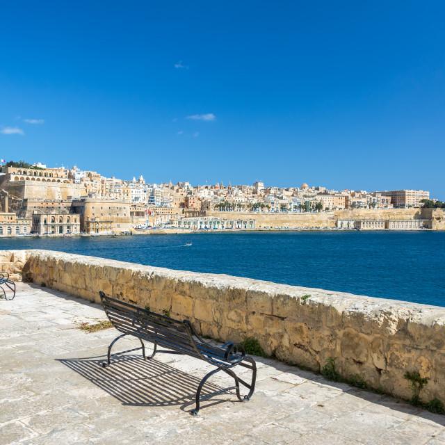 """View from Senglea, Malta"" stock image"