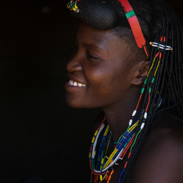 """Muhakaona tribe woman, Cunene Province, Oncocua, Angola"" stock image"