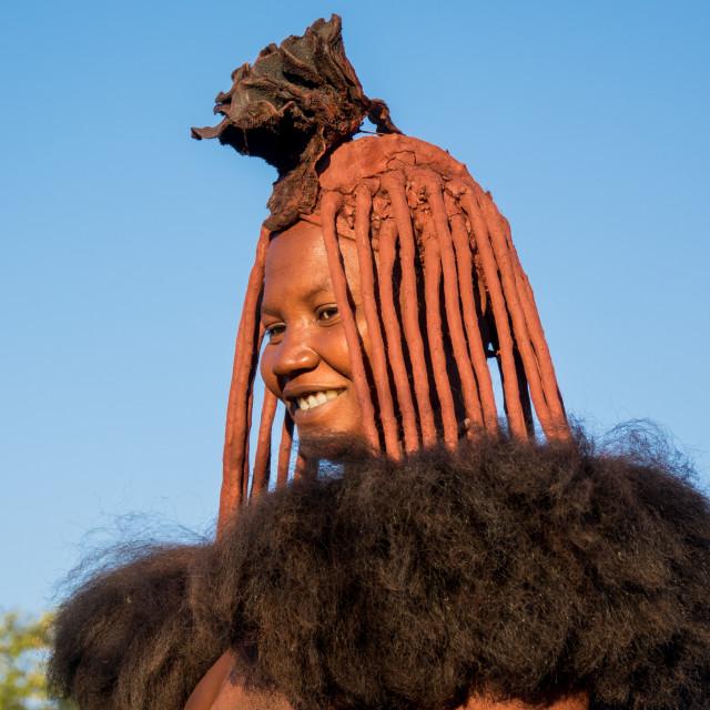 """Himba tribe woman, Cunene Province, Oncocua, Angola"" stock image"