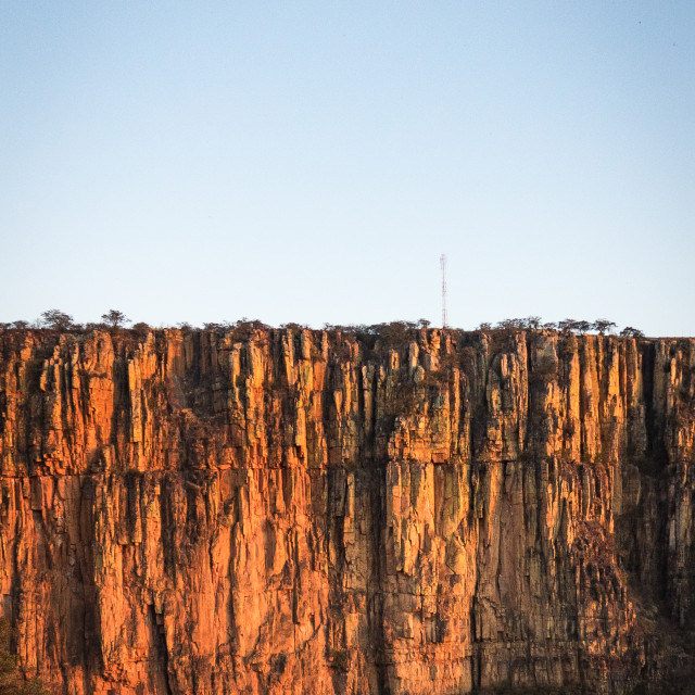 """Cliff on the road to Lubango, Huila Province, Lubango, Angola"" stock image"