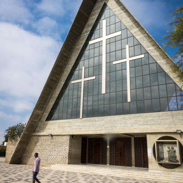 """Our Lady of Fatima Cathedral, Se Catedral de Nossa Senhora de Fatima,..."" stock image"