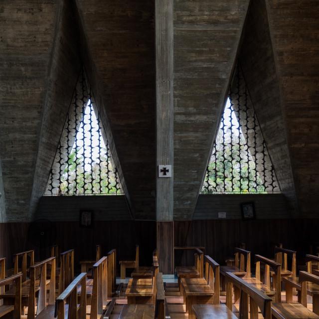 """Inside our Lady of Fatima Cathedral, Se Catedral de Nossa Senhora de Fatima,..."" stock image"