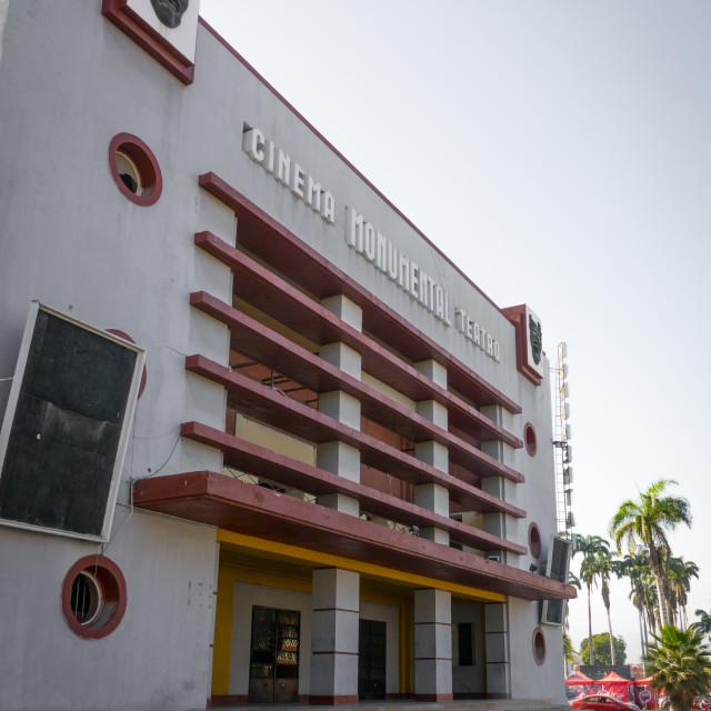 """""""Cinema teatro Monumental, Benguela Province, Benguela, Angola"""" stock image"""