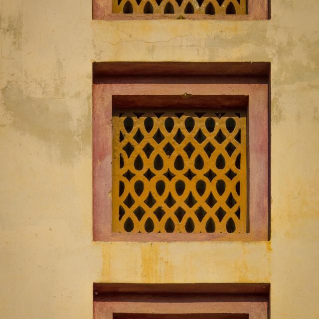 """""""Window from cinema teatro Monumental, Benguela Province, Benguela, Angola"""" stock image"""