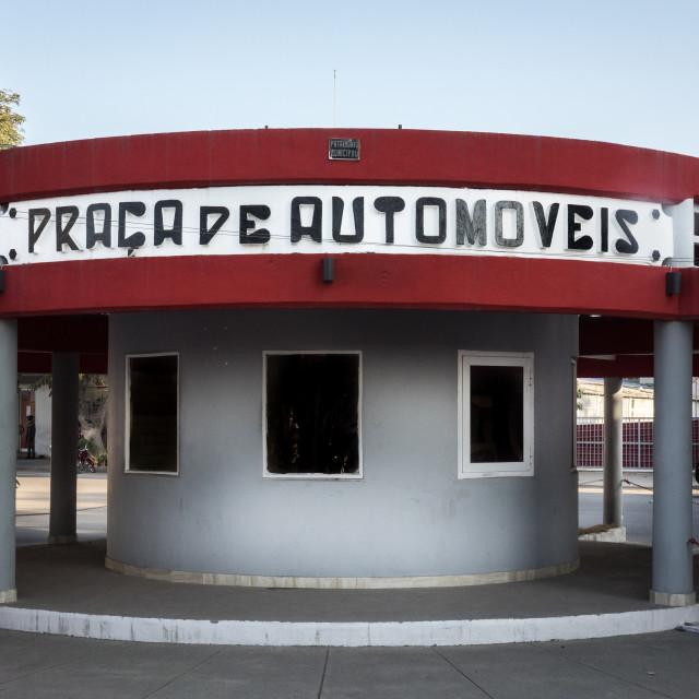 """Ancient car parking lot, Benguela Province, Benguela, Angola"" stock image"