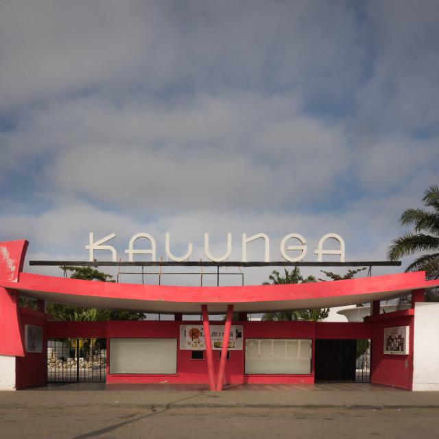 """Cine Kalunga, an Art Deco movie theatre turned into a nightclub, Benguela..."" stock image"