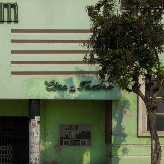 """Cine Teatro Imperium, an Art Deco Portuguese style building, Benguela..."" stock image"
