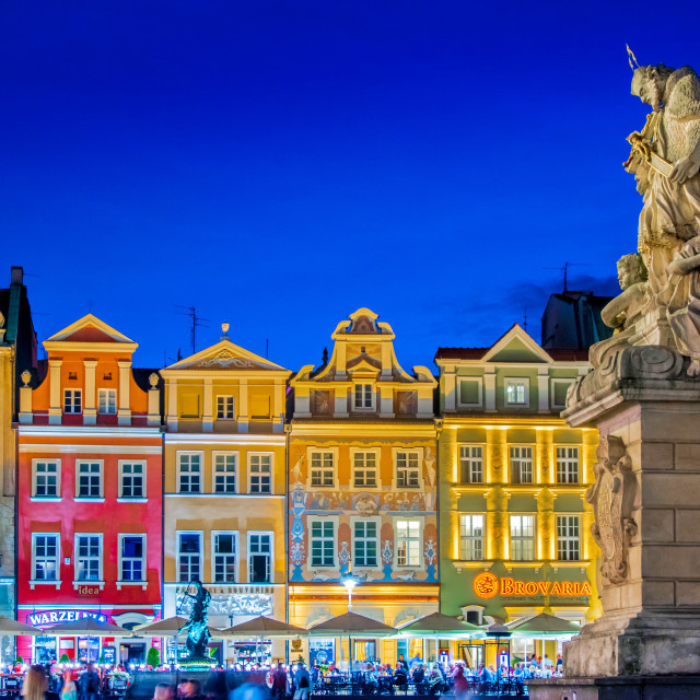 """Architecture of Old Market in Poznan, Poland"" stock image"