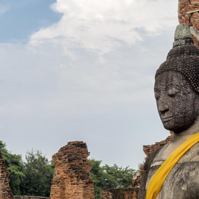 """Buddha, Attayutha, Thailand"" stock image"