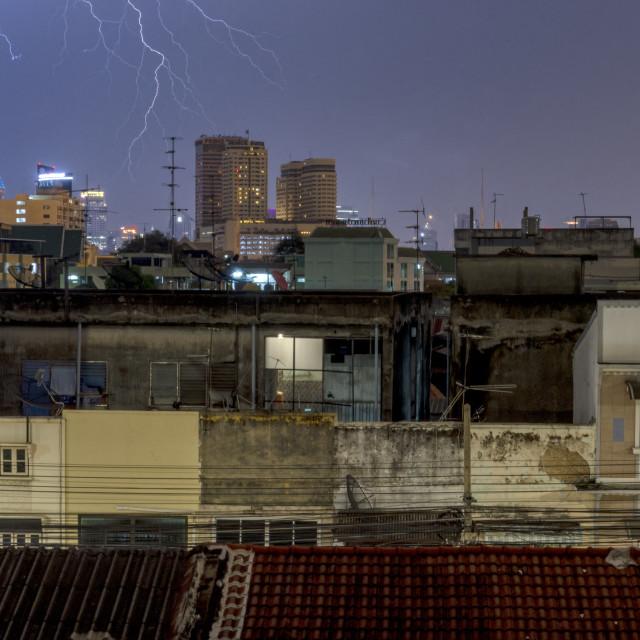 """""""Lightening over Bangkok"""" stock image"""