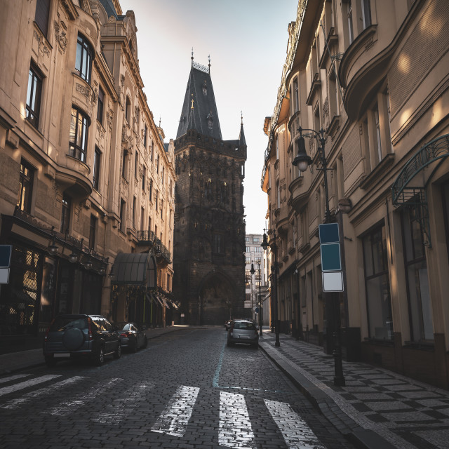 """Street in Prague Old City Center"" stock image"