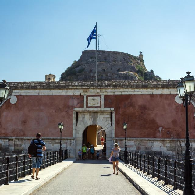 """""""Corfu, Greece - August 25, 2018: Fortezza Vecchia, Old Fortress, Corfu..."""" stock image"""