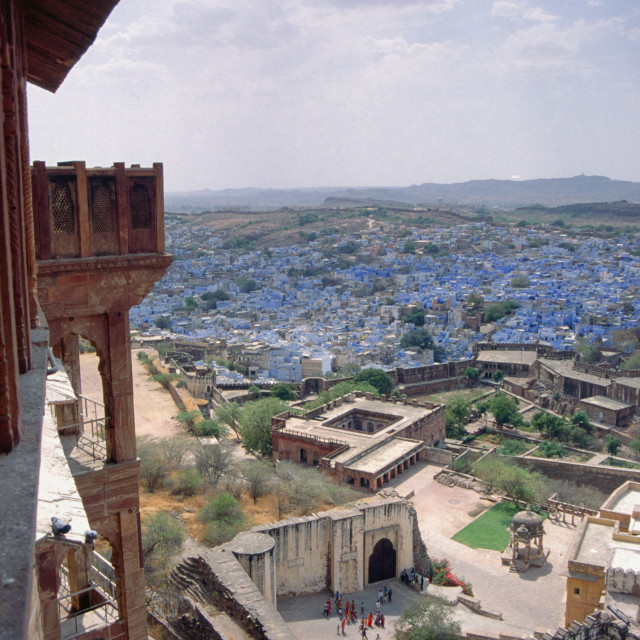 """Jodhpur India View from the citadel."" stock image"