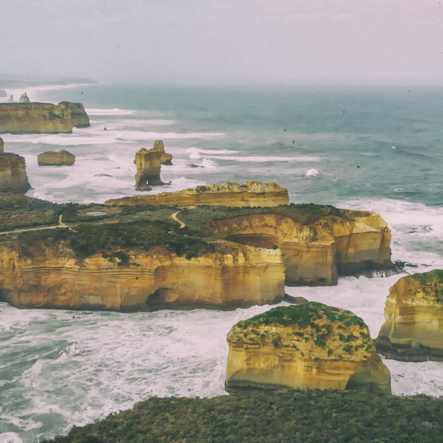 """Loch Ard Gorge in Port Campbell National Park, Victoria, Australia. Beautiful..."" stock image"