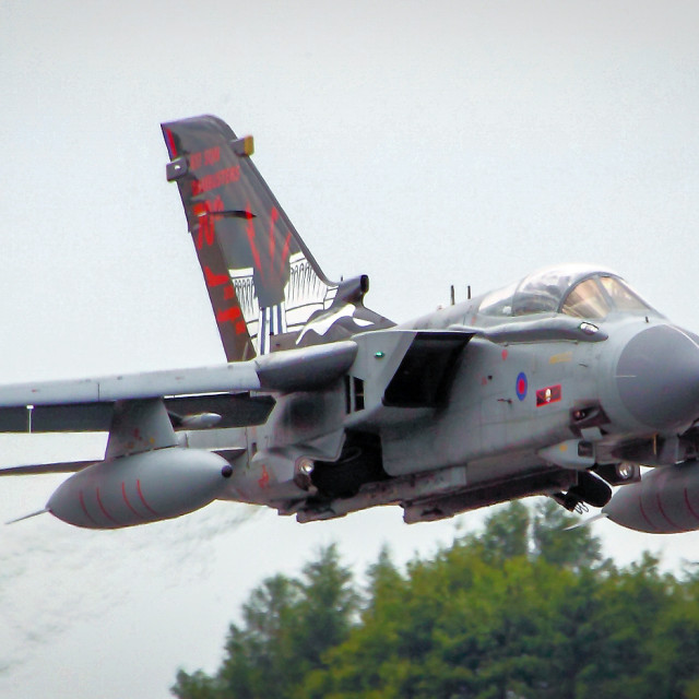 """""""RAF Tornado GR.4 of 617 Squadron The Dambusters"""" stock image"""