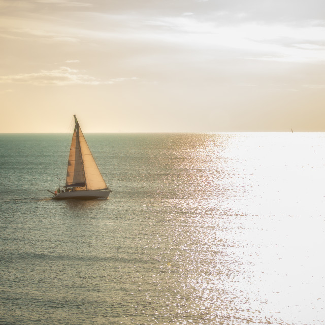 """Sailing towards the sun"" stock image"
