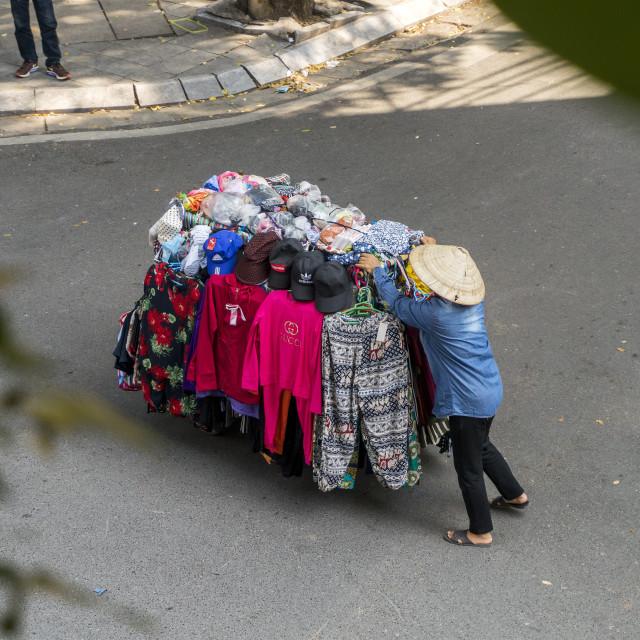 """Street Seller Vietnam"" stock image"