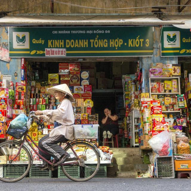 """Shop Front, Vietnam"" stock image"