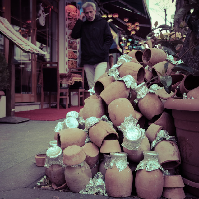 """Istanbul clay pot"" stock image"
