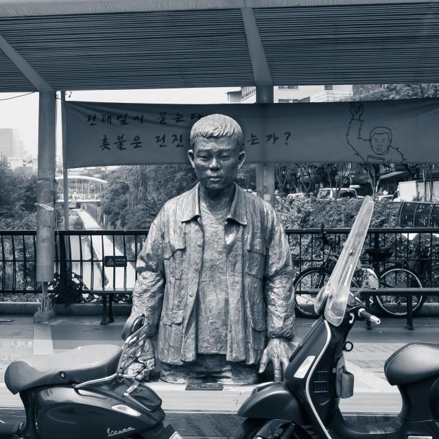 """Jeon Tae-il statue, Seoul"" stock image"
