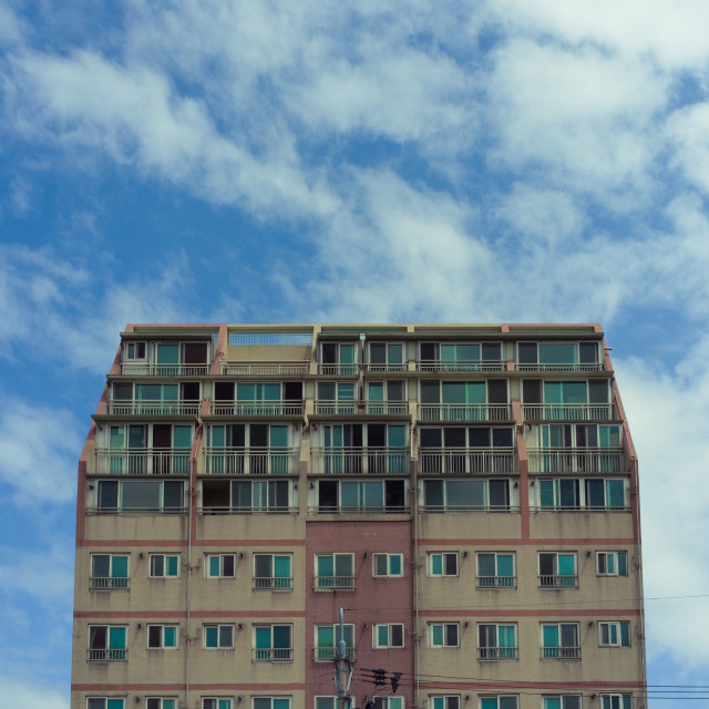 """Jeju Korea apartment building"" stock image"