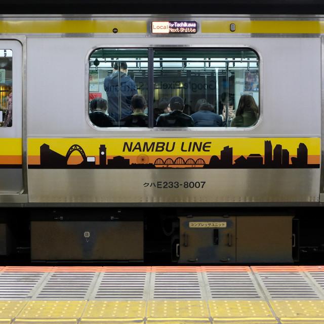 """Nambu line train, Tokyo"" stock image"