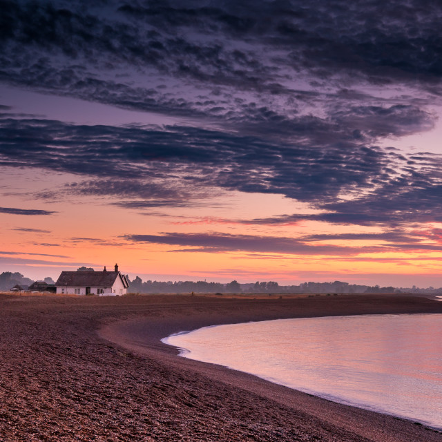 """Shingle Street Sunrise"" stock image"