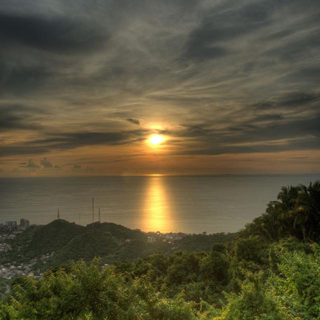 """""""Puerto Vallarta Sunset"""" stock image"""
