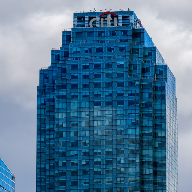 """""""Citibank building at One Court Square in Long Island City, Queens"""" stock image"""