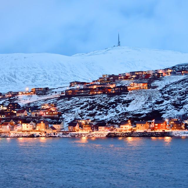"""LIght up the Norwegian port"" stock image"