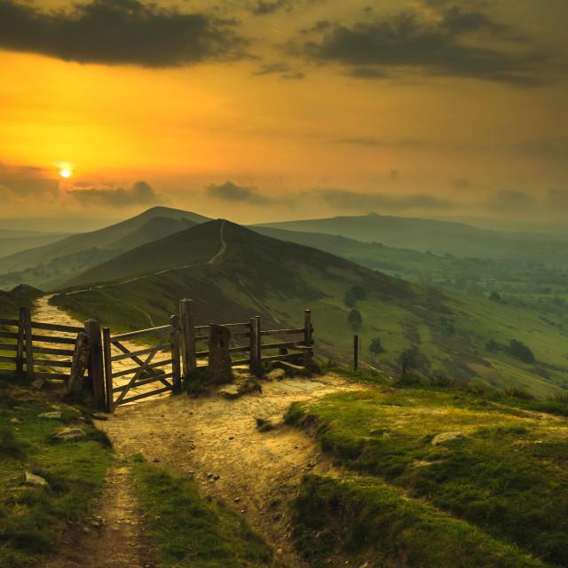 """Great Ridge Sunrise"" stock image"
