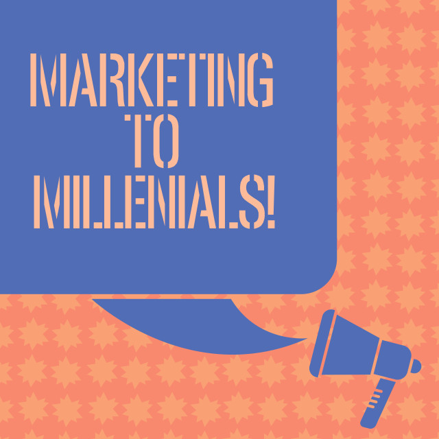 """Writing note showing Marketing To Millenials. Business photo showcasing Be..."" stock image"