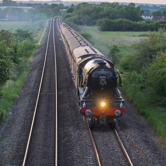 """""""No. 60103 - The Flying Scotsman"""" stock image"""