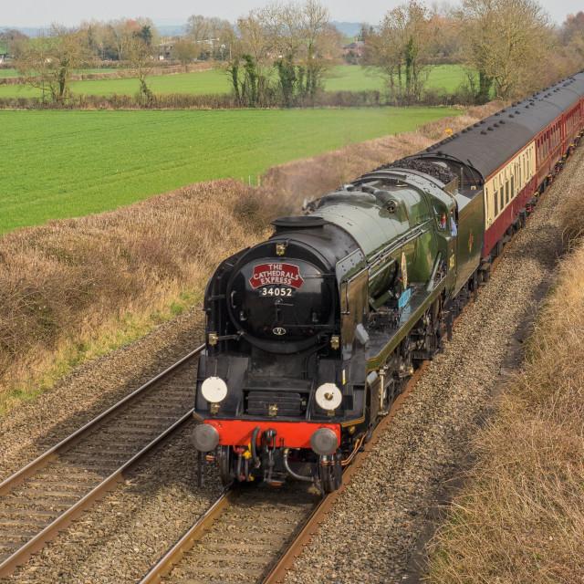 """SR Battle of Britain Class No .34052"" stock image"